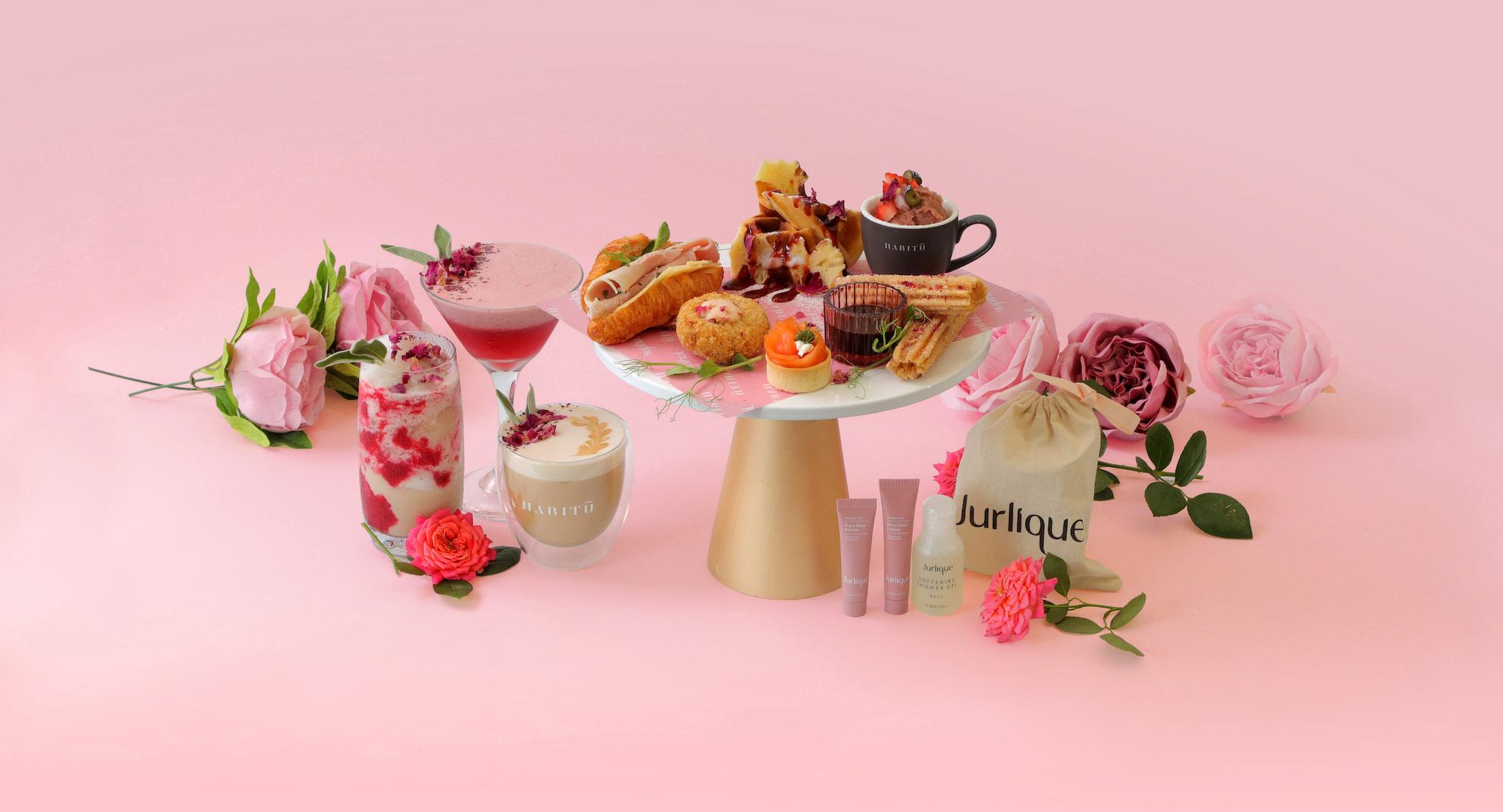 HABITŪ 聯乘Jurlique 推出玫瑰下午茶