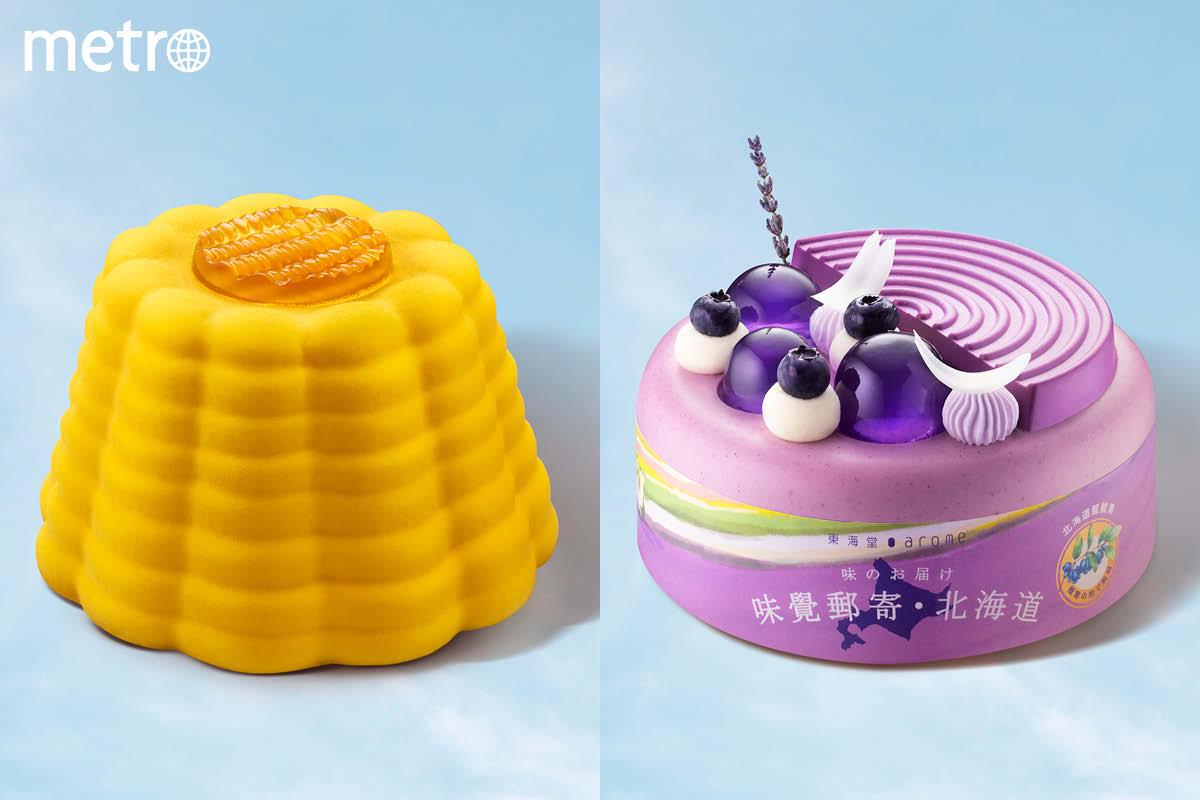 東海堂北海道直送蛋糕  驚喜玉米醬油味+高甜赤肉蜜瓜